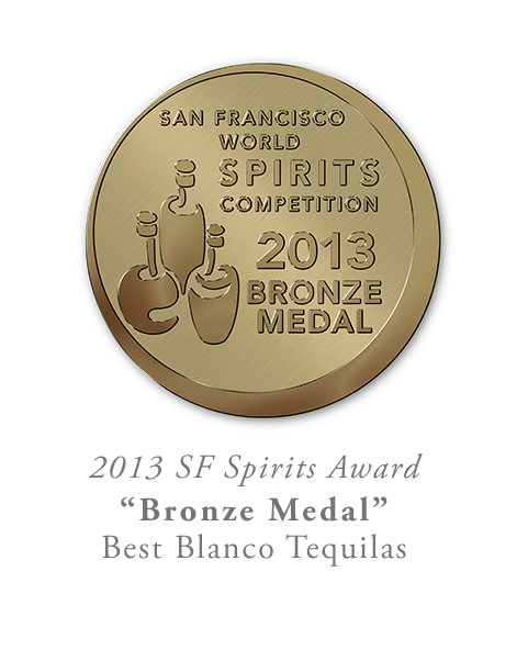 San Francisco World Spirits Competition Bronze Blanco Tequila